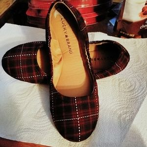 Lucky brand plaid ballet shoes.